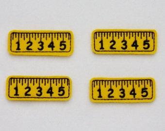 Yellow Felt Ruler - Set of 4