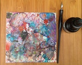 Whimsical Art, Abstract Painting, Kawaii, Surreal Art, Abstract Art, Small Art, Asian Inspired, Surrealism, Pen and Ink Art, Weird Art, 6x6
