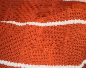 Texas Afghan for Grads and Fans