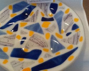 Fused Glass Seder Plate