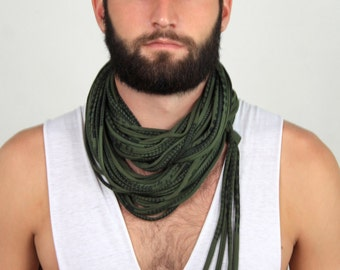 Green Cowl, Gift for Men, Cowl, Chunky Scarf, Green Chunky Scarf, Scarves for Men, Handmade Scarf, Unique Scarf, Gift For Her, Cowl neck