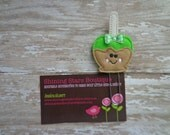 Felt Paper Clips - Fall Or Autumn Lime Green Candy Caramel Apple Paper Clip Or Bookmark - Holiday Accessories For Teachers Or Students