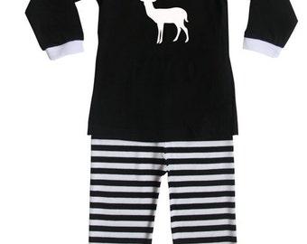 Deer Silhouette Baby and Toddler Pajama Set