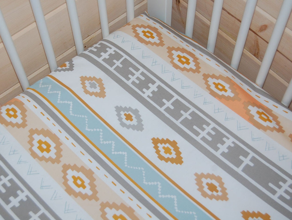 tribal baby bedding bound crib sheet mini crib sheet aztec. Black Bedroom Furniture Sets. Home Design Ideas