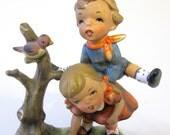 Cute Boy Girl Porcelain Figurine Playtime Hand Painted  Lipper & Mann Japan