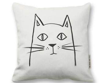 Painted Cat Pillow