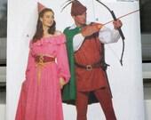 Butterick 5749 - Robin Hood & Maid Marian Costumes - Renaissance Faire Princess - XS - MD (Bust 30 - 36) Couples Cosplay Pattern - UNCUT