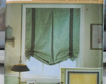Simplicity 3117 - Shades & Blinds For Your Home Decor - Classy Donna Lang Woven Tape Window Shades - UNCUT - Interior Design DIY