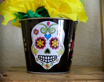 Day of the Dead Calavera 10 Paper Flower Shrine- pick your color marigolds to be included