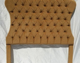 Gold Upholstered Tufted Headboard Queen Size Hollywood Regency Style Tufted Headboard Gold Upholstered Headboard Queen Size Gold