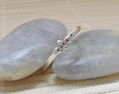 Moissanite Single Stone Band Sterling Silver Made To Order