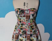 star wars vintage comic sweet heart dress - jedi. womens sci-fi dress.