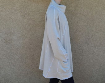 Hemp and Organic Cotton Fleece Snap Closure Coat