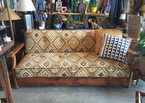 Vintage click back sofa bed newly reupholstered for Click back sofa bed