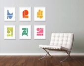 Art Print Set, Large Art, Gallery Wall, Contemporary Wall Art, Abstract Art Print, Abstract Art, 6 Prints for the Price of 5