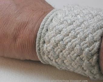extra wide cotton cuff turks head knot sailor bracelet knotted bracelet armband rope bracelet 3551