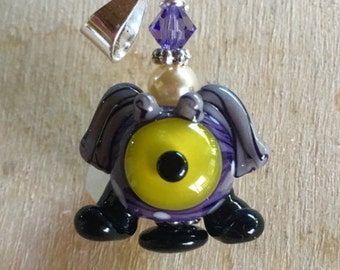 One Eyed Purple Monster Pendant