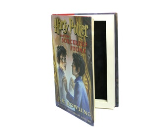 Harry Potter Sorcerer's Stone Handmade Hollow Book Box - Special Anniversary Edition - Booksafe Secret Stash Christmas Gift - READY TO SHIP