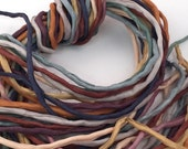 SALE Priced Silk Ribbon Cord Bundle Item No.382 Contains Ten 2mm Silk Ribbons Random Colors