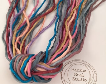 Pantone Fall 2015 2mm Silk Cord Set of 10 silks in Trending Fall 2015 Pantone Color Palette by Marsha Neal Studio Craft and Jewelry Supplies