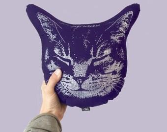 Kitty Cat Pillow Plush, Cat Face Cushion, Plush Cat, Stuffed Animal, Plush Toy, Baby Pillow, kids room decor, nursery decor baby shower gift