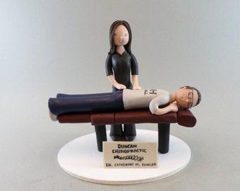 Chiropractor Customized Wedding Cake Topper