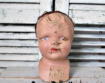 CReePY ANTiQuE DoLL HeaD