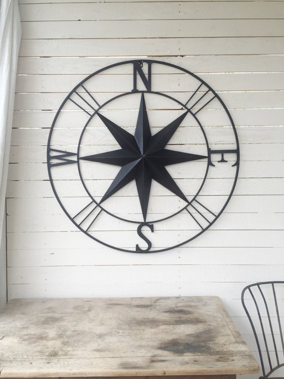 Items Similar To Metal Compass Nautical Wall Art