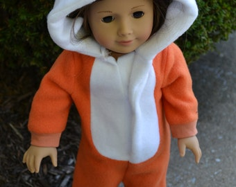 18 inch Doll Clothes - Fox Sleeper or Costume - MADE TO ORDER - fits American Girl
