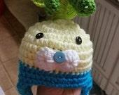 Crochet Octonauts Tunip hat baby boy girl. Crochet tunip hat. Made to order