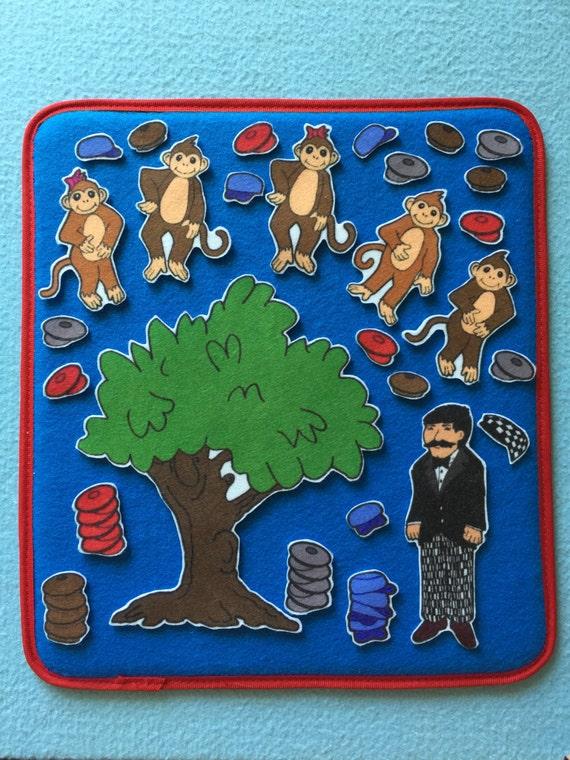Caps for Sale Felt / Flannel Board Set