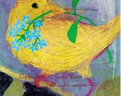 Baby Chick Painting in oil reproduction as Art Print on Photo Paper