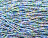 8/0 Matte Transparent Pastel Color Mix Czech Glass Seed Bead Strand (CW69)