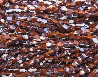 5mm Opaque Caramel Celsian Czech Glass Pinch Beads - Qty 50 (BW21)