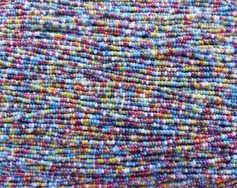 11/0 Opaque Color Mix Czech Glass Seed Beads 12 Strand Hank (ES22)