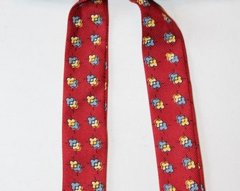 Vintage Western Square Dancing Clip On Bow Tie, Made in USA, 1970's