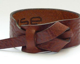 Leather Cuff by Muse in Dark Rhino color, Bracelet, Nickle-Free, Free Shipping