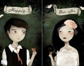 Happily ever after - Set of 2 prints - The Groom and The Bride - Deluxe Edition Prints
