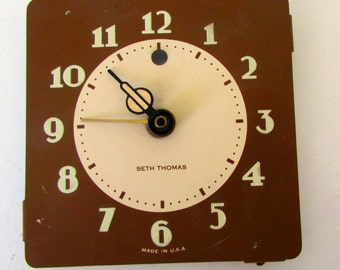 Antique Clock Face Parts Vintage Clock Gears great for art jewelry gears Seth Thomas Art Deco