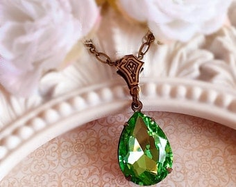 August Birthstone Necklace - Peridot - Birthstone Gift - Ready to SHIP - CAMBRIDGE Peridot