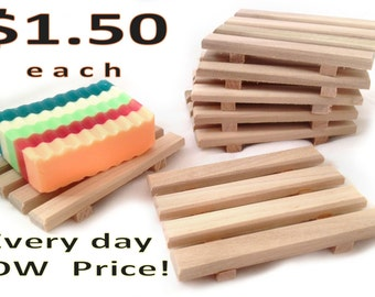 20 Soap Dishes for 30.00 - 20 natural poplar soap dishes or 20 reclaimed red alder - handcrafted in Portland, OR USA