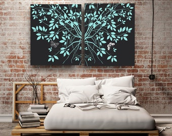 Trees Wedding Canvas art canvas wall art Nature prints Wedding gifts for couple bedroom decor minimalist Engagement Gifts 1st Anniversary