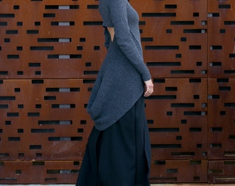 Tailcoat Sweater - cut out sweater with tail