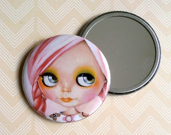 Blythe Doll - Pocket Mirror pink hair pastel girl