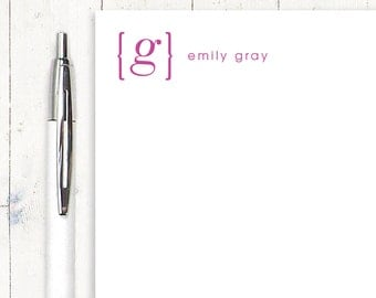 personalized notePAD - YOUR name your INITIAL MONOGRAM - stationery - stationary - monogrammed notepad - choose color