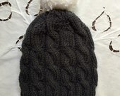 PomPom Bella Cable Hat - Create your own