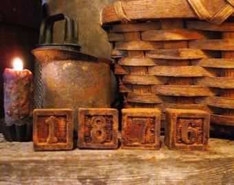 Primitive Beeswax Melts, Primitive Number Blocks, Primitive Decor, Scented Wax Melts, Scented Wax Tarts Primitive Decor Scented Candle Melts