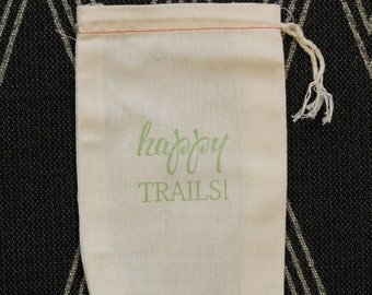 Happy Trails: Favor Bag for Weddings, Parties and Events