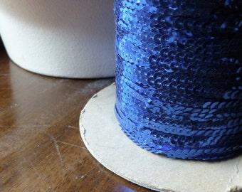7 yds. Sapphire Cobalt Sequin Yardage Trim for Lyrical Dance, Costumes, Garments, Crafts