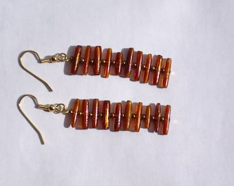 Genuine Gold Coral Earrings